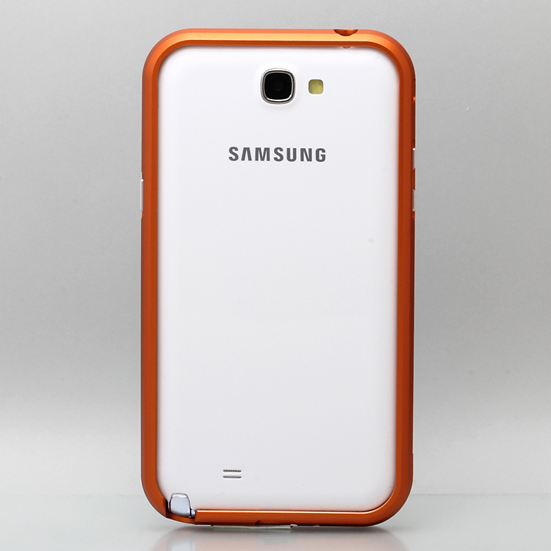GALAXY NOTE 2 threebeans; Galaxy Note II  SC-02E アルミバンパーケース オレンジ