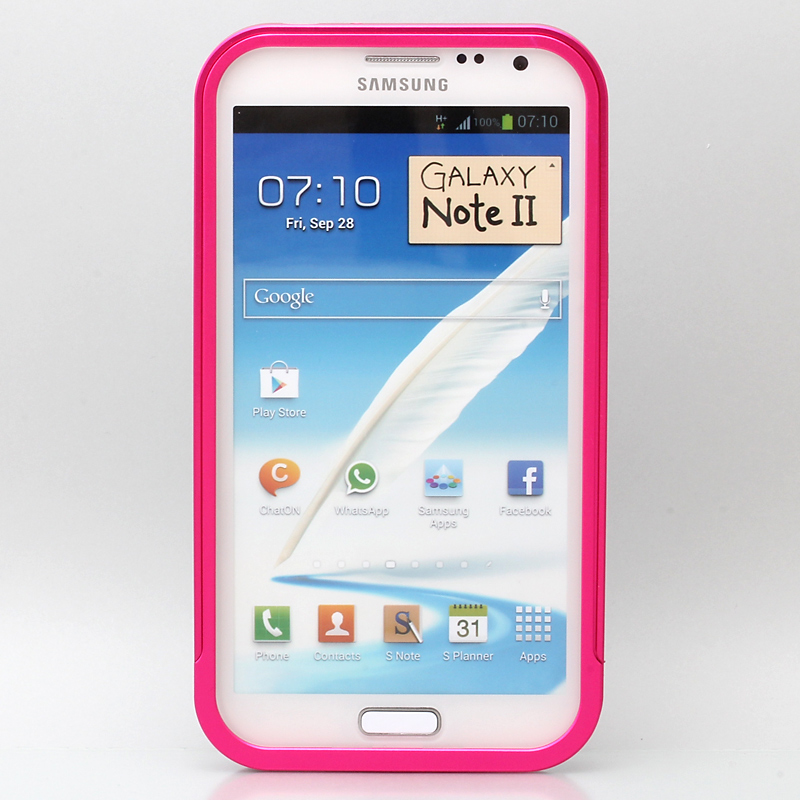 GALAXY NOTE 2 Galaxy Note II  SC-02E アルミバンパーケース ピンク