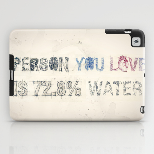 iPad mini sosiety6 ソサエティ6 iPadcase mini アイパッドミニケース The Person You Love Is 72.8% Water