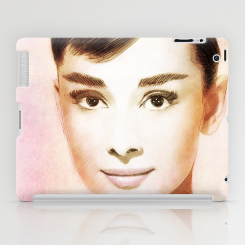 iPad ソサエティ6 iPadcase アイパッドケース  オードリー・ヘプバーン Audrey Hepburn