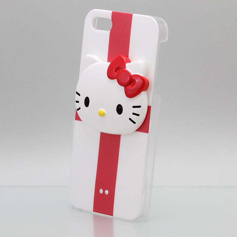 iPhone 5 Threebeans iPhone5 ケース アイフォン5専用ハードケースカバー レッドクロス /ハローキティアイパーツiParts