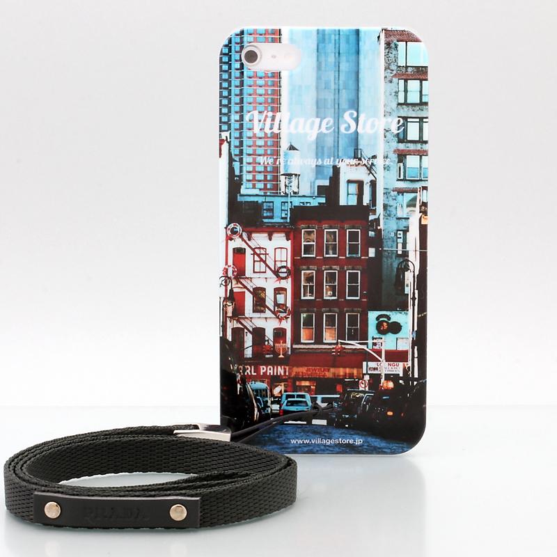 iPhone 5 PRADA プラダ携帯ストラップ1AR134 レザータグ+ナイロン グリーン プラス Villagestore iPhone5ケース