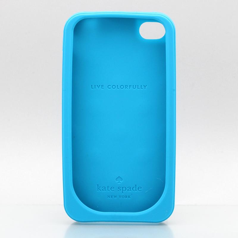 iPhone 4/4S KateSpade ケイトスペード iPhone ケース ソフト /ドットブルー