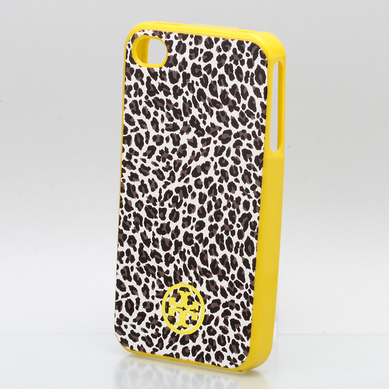 iPhone 4/4S TORY BURCH トリバーチ iPhone ケース ソフト/レパード イエロー