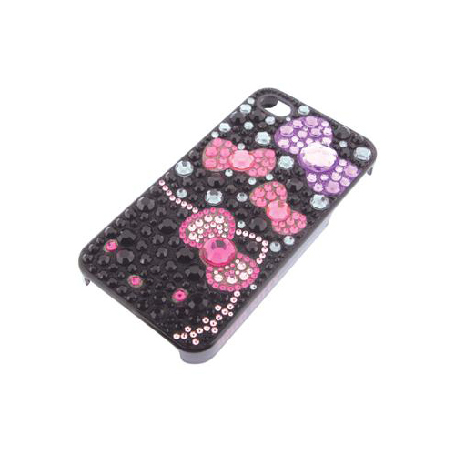 iPhone 4/4S iDress™ ハローキティ ジュエリーカバー iPhone4S/4対応 ブラック