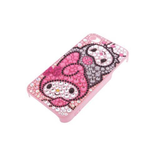 iPhone 4/4S iDress™ マイメロディ&クロミ ジュエリーカバー iPhone4S/4対応 ピンク