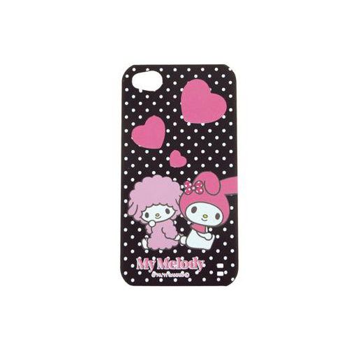 iPhone 4/4S iDress™ マイメロディ バックカバー iPhone4S/4対応 ブラックハート